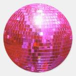 FUSHIA DISCO BALL DANCE PARTY STICKERS