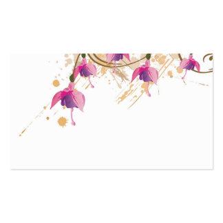Fushia flowers Profile Card Business Card Templates