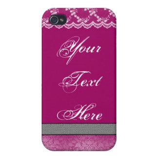 Fushia & Lace Case For iPhone 4