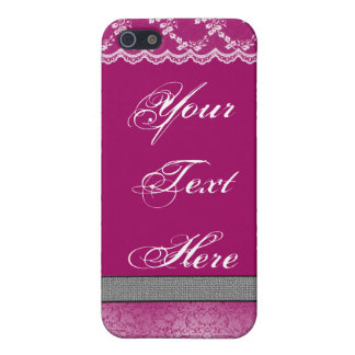 Fushia & Lace iPhone 5 Cases