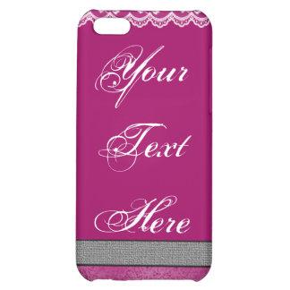 Fushia & Lace iPhone 5C Covers