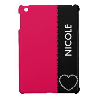 Fushia Pink Background Retro Custom Name Cover For The iPad Mini