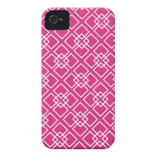Fushia Pink Diamond Geometric Pattern Blackberry Bold Case