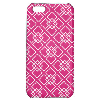 Fushia Pink Diamond Geometric Pattern iPhone 5C Cover