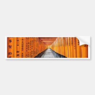 Fushimi Inari Shrine, Kyoto Japan Bumper Sticker