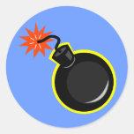 Fusible de la bomba y del Lit Pegatinas Redondas