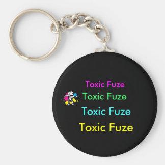 Fusible tóxico Keychain. Llavero Redondo Tipo Pin