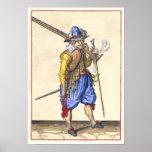 Fusilero holandés - siglo XVII - poster