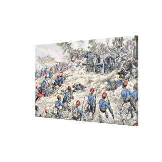 Fusileros argelinos del ejército francés impresión en lienzo estirada