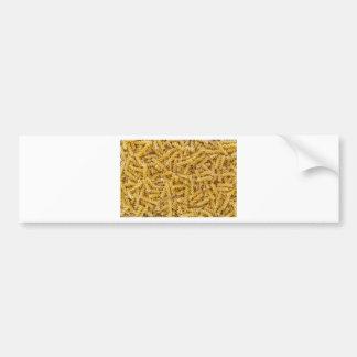 Fusilli pasta macro as background structure bumper sticker