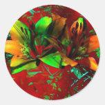 Fusión 5088 del color pegatina redonda