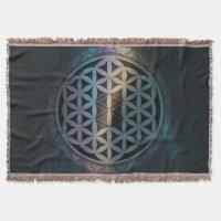 fusion_aurora_mandala throw blanket