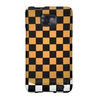 Fusion Checkerboard Gold White Black Mod Retro Galaxy S2 Cover