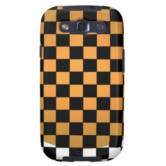 Fusion Checkerboard Gold White Black Mod Retro Samsung Galaxy SIII Cover