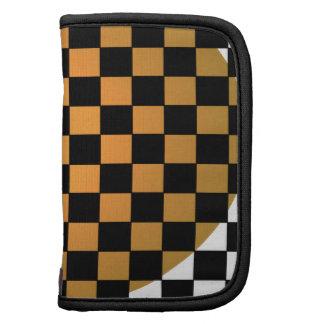Fusion Checkerboard Gold White Black Mod Retro Planner