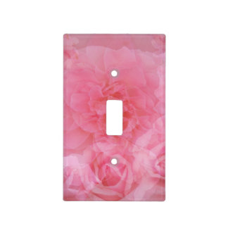 Fusión color de rosa rosa clara floral soñadora cubiertas para interruptor
