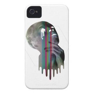 Fusión del cráneo de la cabeza de la Luna Llena de iPhone 4 Protectores