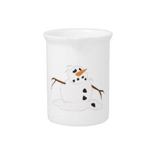 Fusión del muñeco de nieve jarras de beber