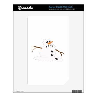 Fusión del muñeco de nieve NOOK color calcomanía
