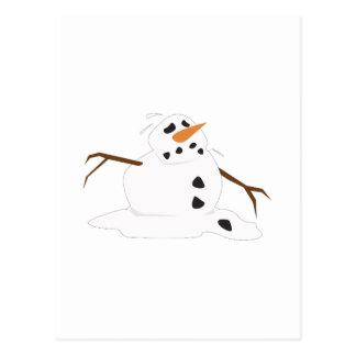 Fusión del muñeco de nieve tarjetas postales