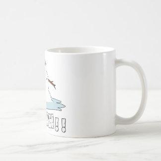 Fusión del muñeco de nieve taza de café