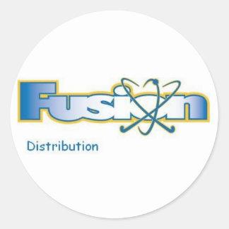 fusion distribution classic round sticker