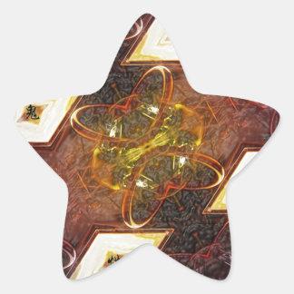 Fusión fría pegatina en forma de estrella
