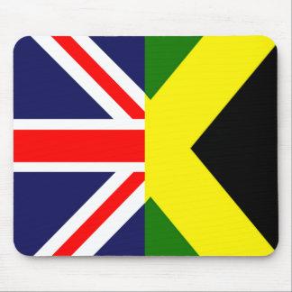 Fusión Mousepad de Union Jack Jamaica