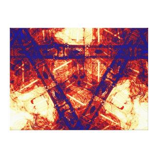 Fusión nuclear impresión en lienzo