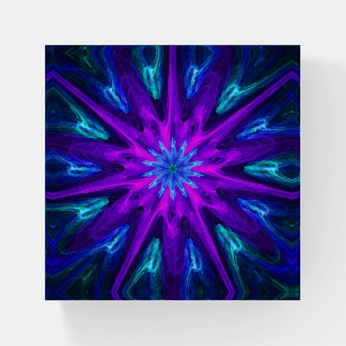 Fusion Of Passion Fractal Paperweight