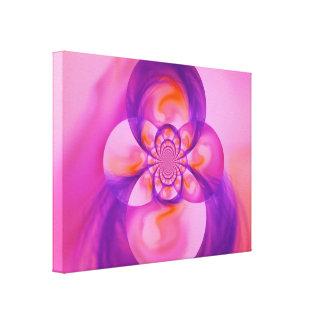 Fusión púrpura impresión en lienzo