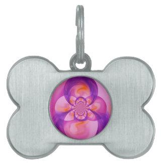 Fusión púrpura placas de nombre de mascota
