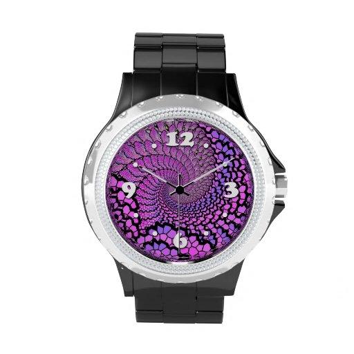Fusión púrpura reloj