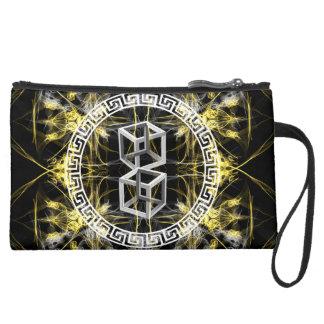 fusion_savvy suede wristlet wallet