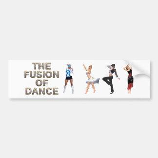 Fusión SUPERIOR de la danza Pegatina De Parachoque