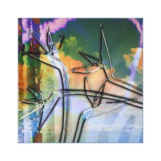 Fusión tropical impresión en lienzo