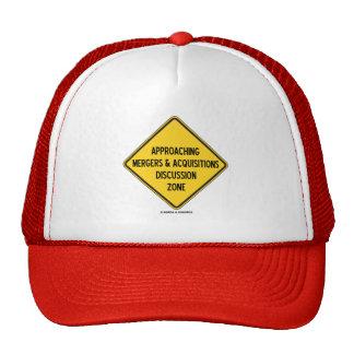 Fusiones y zona inminentes de la discusión de las  gorras