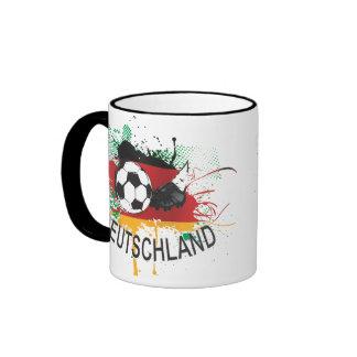 Fußball del fútbol de Alemania Deutschland Taza A Dos Colores