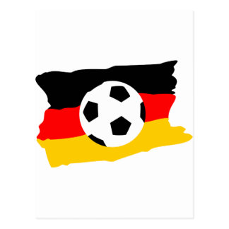 Fussball deutschland fahne postcard