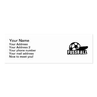 Fussball Soccer shoe ball Business Cards