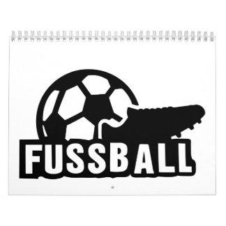 Fussball Soccer shoe ball Calendar
