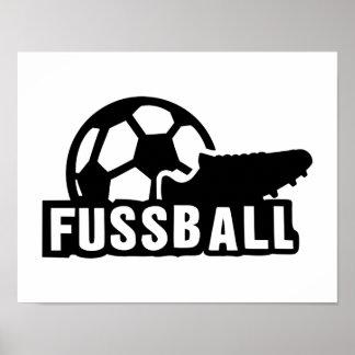Fussball Soccer shoe ball Poster
