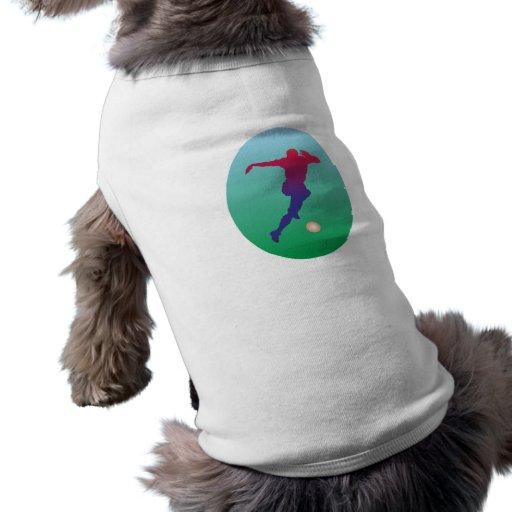Fussball Spieler Fussballer soccer player Hund T-shirt