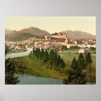 Fussen, Bavaria, Germany archival print