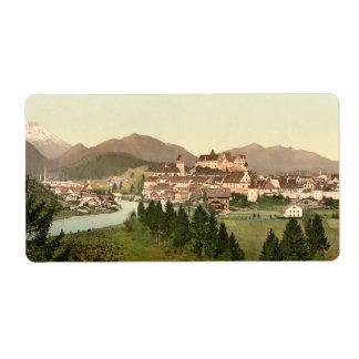 Fussen, Bavaria, Germany Shipping Label