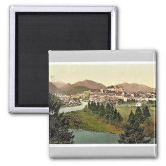 Fussen, Bavaria, Germany vintage Photochrom Magnet