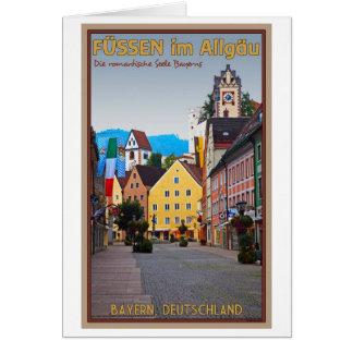 Füssen - Fußgängerzone Greeting Card