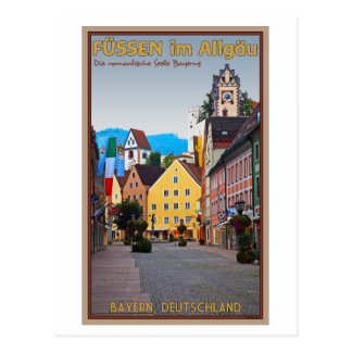 Füssen - Fußgängerzone Postcard