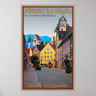 Füssen im Allgäu Poster