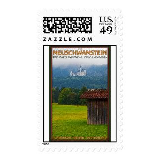Füssen - Schloß Neuschwanstein from Afar Postage Stamps